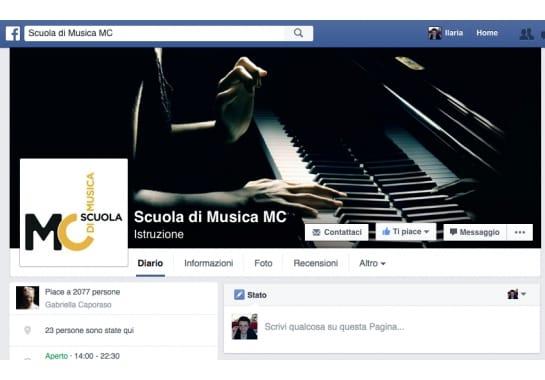 Progetto realizzato per Scuola di Musica MC da Ermes Digital, Sudio grafico, web e seo Milano