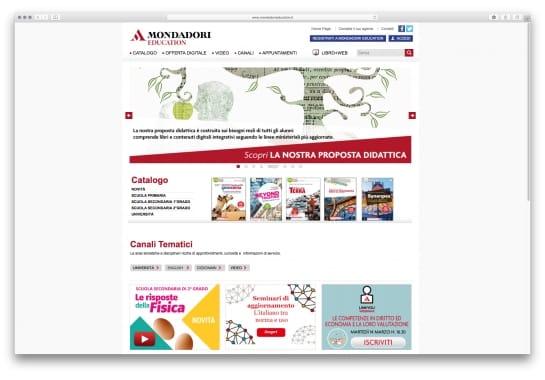 Progetto realizzato per Mondadori Education da Ermes Digital, Sudio grafico, web e seo Milano