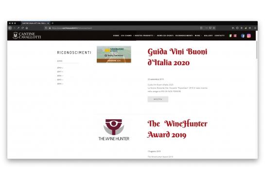 Progetto realizzato per Cantine Cavallotti da Ermes Digital, Sudio grafico, web e seo Milano