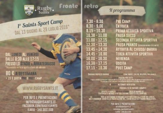 Progetto realizzato per Rugby Saints ASD da Ermes Digital, Sudio grafico, web e seo Milano