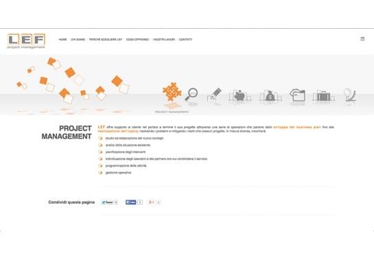 Progetto realizzato per LEF Project Management S.r.l da Ermes Digital, Sudio grafico, web e seo Milano