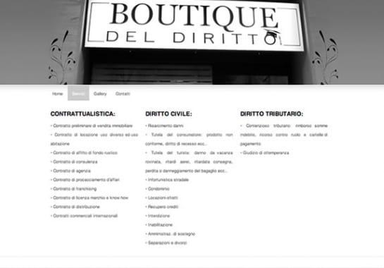 Progetto realizzato per BOUTIQUE DEL DIRITTO da Ermes Digital, Sudio grafico, web e seo Milano